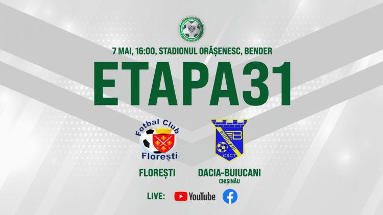 LIVE. FC Florești – Dacia Buiucani. Avancronică